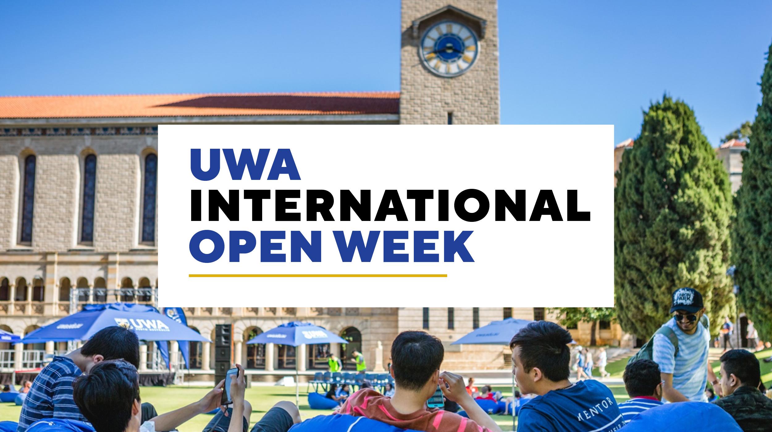 Welcome to UWA International Open Week 2020